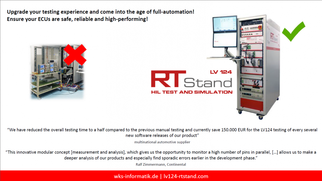 RTStand LV124 – benefits and system features